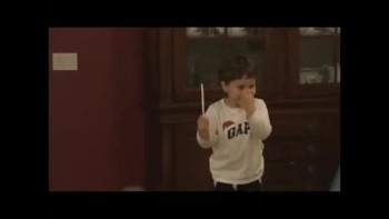 3 year old Jonathan conducting to the 4th movement of Beethoven's 5th Symphony