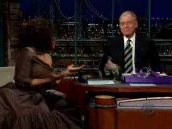 Oprah Winfrey Show Visits David Letterman Show Part 1