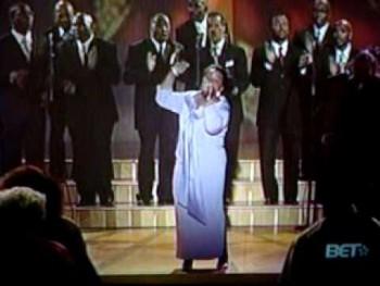 Shirley Caesar singing Sweeping through the City