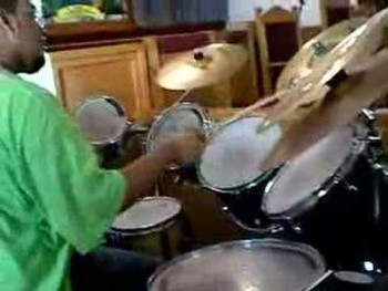 Kirkland on drums playing Let It Rain By Bishop Paul Morton
