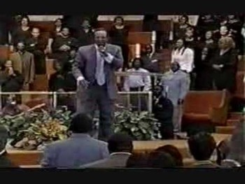 Dr. Rayford T. Iglehart sings with Bishop Paul S. Morton