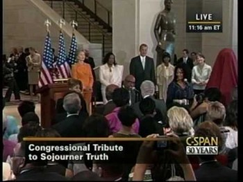 Dorinda Clark Cole, Lomax Spaulding, and Yolanda Adams sing at Sojourner Truth Dedication