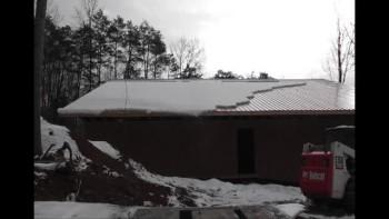 Snow Slide off New Boys Cabin