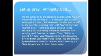 The Evening Prayer - 21 Jan 11 - State Dept Tries to Remove Mother and Father From Passports