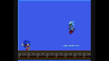 metal sonic tribute in the end.