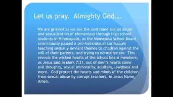 The Evening Prayer - 28 Jan 11 - Minneapolis Schools Force Homosexual Education on Kids
