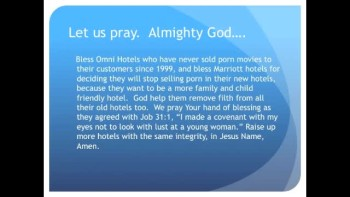 The Evening Prayer - 03 Feb 11 -Marriott Won't Sell Adult Movies in New Hotels