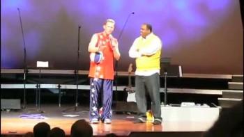 Coach Mark Performs at Upward Basketball banquet.