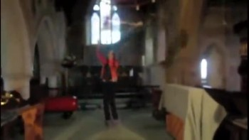 Flagging in a little Church Building