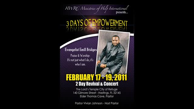 EMILL BRIDGES 2011 Florida Revival