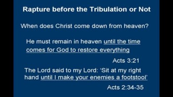 Is the Rapture before the Tribulation or Not?