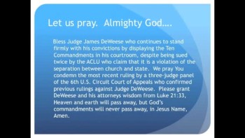 The Evening Prayer - 16 Feb 11 - 10 Commandments Banned from Ohio Courtroom