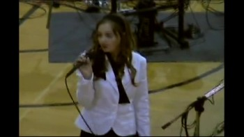 11 year old singer Me singing Never Alone by Barlow girl at a talent show