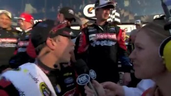 Trevor Bayne Praises God - Daytona 500 Winner