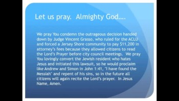 The Evening Prayer - 02 Mar 11 - Judge fines NJ Town for allowing Lord's Prayer