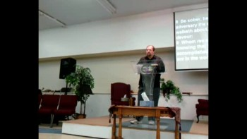 Pastor Mike Mings - Don't let the devil in.