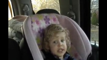 2 year old has new singing style for camera
