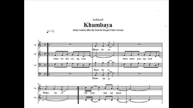 Khumbaya (midi of Soweto Gospel Choir-version)