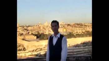 Revelation 21, filmed on the Mount of Olives across from Jerusalem, Israel (Tom Meyer)