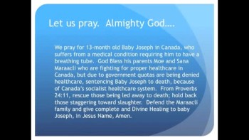 The Evening Prayer - 09 Mar 11 - Canadian Baby Ordered Removed from Life Support