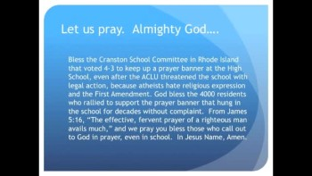RI School Defends Prayer Banner, Defies ACLU