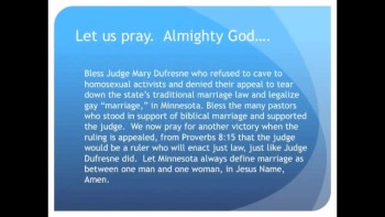 "Victory!  Minnesota Judge Rejects Gay ""Marriage"""