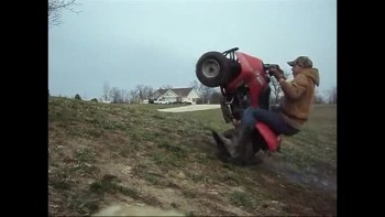 ATV flips over backwards