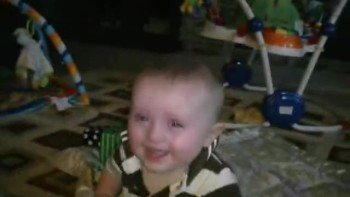 Adorable Baby Laughs at Dad Snorting