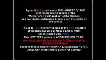 The Honshu Earthquake and the Rapture