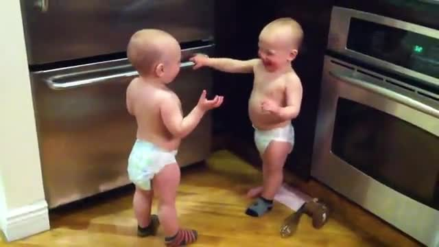 Twin Babies Have a Conversation