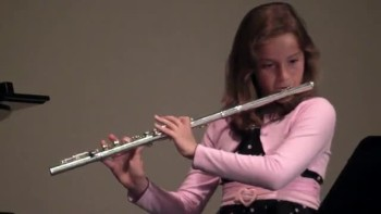 10 year old plays Amazing Grace on the flute
