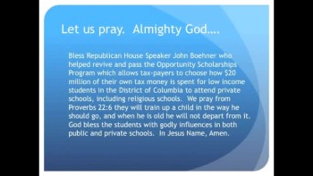 The Evening Prayer - 08 Apr 11 - House Passes D.C. School Vouchers