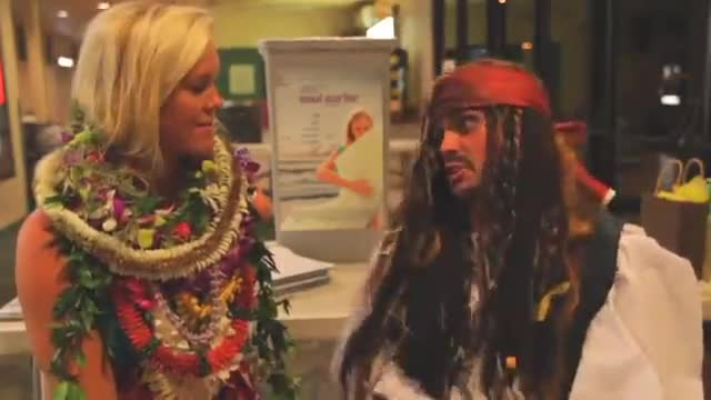 Captian Jack Sparrow Inteviews Bethany Hamilton