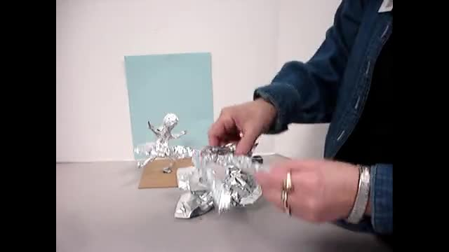 Rival Rodin- Foil Sculptures by Sarah Poff's art hands