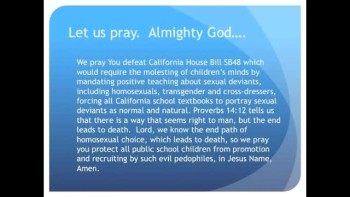The Evening Prayer - 12 Apr 11 - California Bill Would Force Homosexual Textbooks upon Kids