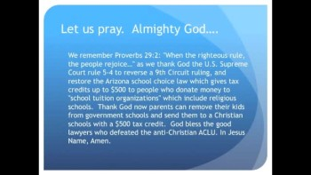 The Evening Prayer - 13 Apr 11 - U.S. Supreme Court Allows School Choice Tax Credits