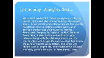 The Evening Prayer - 18 Apr 11 - U.S. Senate Fails to Defund Planned Parenthood