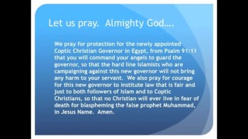 The Evening Prayer - 30 Apr 11 - Egypt Islamists Defiant Over Christian Governor