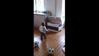 Baby Has Amazing Football Skills