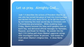 The Evening Prayer - 03 May 11 - Obama Ignores Easter, Honors Earth Day, Ramadan, Diwali