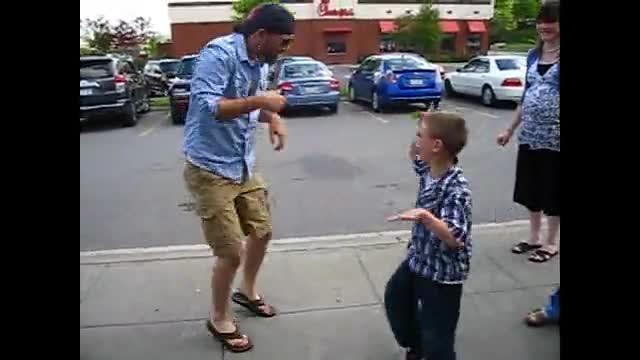 Dancing infront of Logans