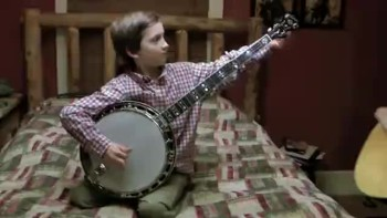 8 Year Old Plays Banjo