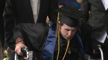 Paralyzed Student Walks Across Graduation Stage