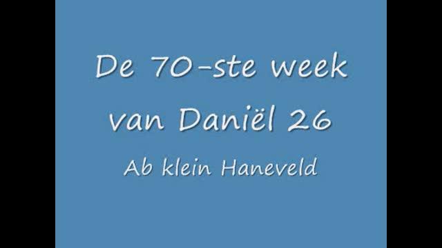 De zeventigste week van Daniël in het O.T. 26
