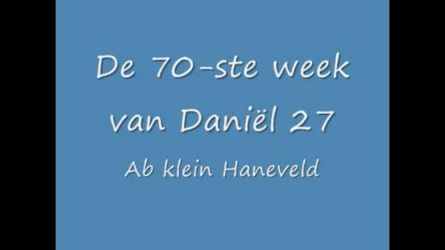 De zeventigste week van Daniël in het O.T. 27