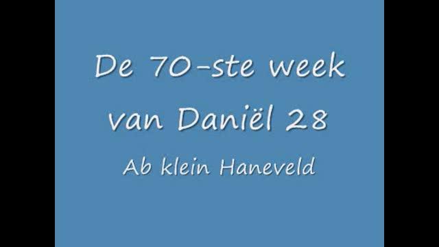 De zeventigste week van Daniël in het O.T. 28