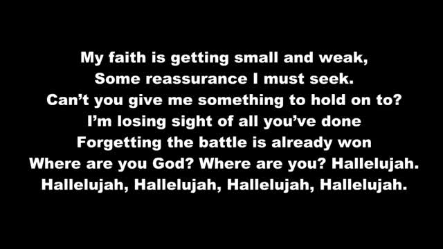 Hallelujah with lyrics
