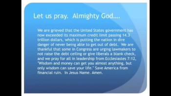 The Evening Prayer - 23 May 11 - U. S. Government Violates Debt Ceiling