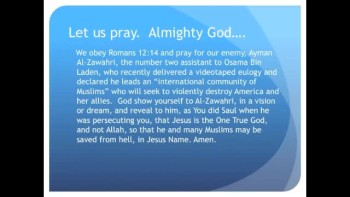 The Evening Prayer - 13 June 11 -Muslim Community Pledges to Destroy America‬