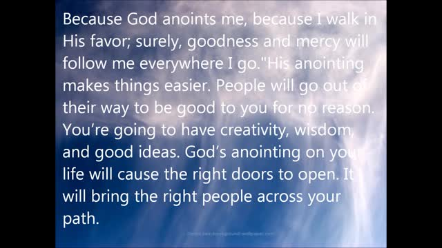 God Anoints Your Head with Oil